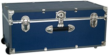 Seward Trunk Wheeled Footlocker, Blue Review