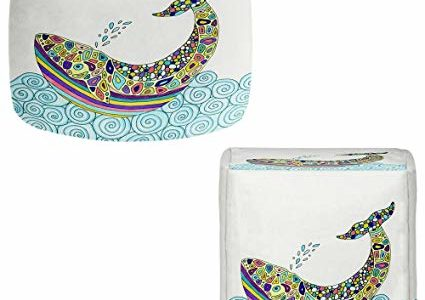 DiaNoche Designs Foot Stools Poufs Chairs Round or Square from by Valerie Lorimer – Whale Tune Review