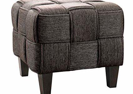 Homelegance Elista Stool Bench Interwoven Fabric, Gray Review