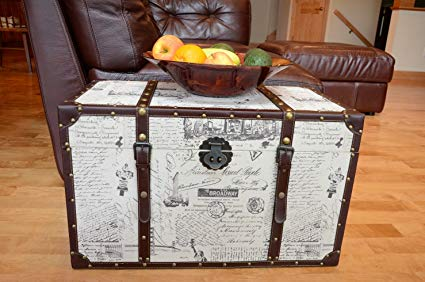Styled Shopping Decorative New York Medium Wood Steamer Trunk Wooden Treasure Hope Chest Review
