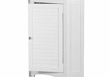 Elegant Home Fashions Slone 1-Door Corner Floor Cabinet in White Review