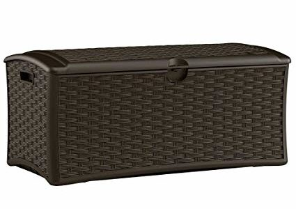 Resin Wicker Deck Box 72 Gal., Constructed with Weather-resistant Polypropylene Plastic Resin in Wicker Finish Review