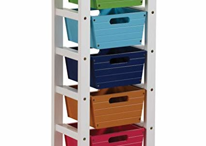 ACME Darvin Colorful Storage Rack with 5 Baskets Review