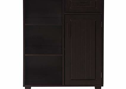 Elegant Home Fashions Catalina Floor Cabinet with 1 Door, 1 Drawer and 3 Shelves Review