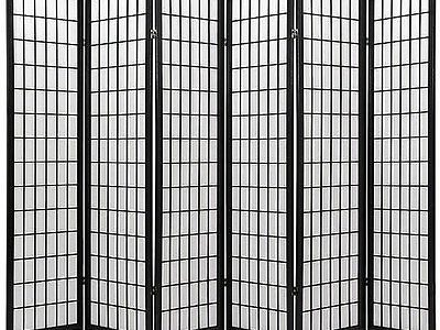 Coaster Oriental Style 4-Panel Room Screen Divider, Black Framed (Black, 6 Panel) Review