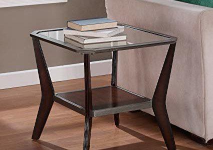 Metro Shop Boomerang Espresso/ Antique Silver End Table Review