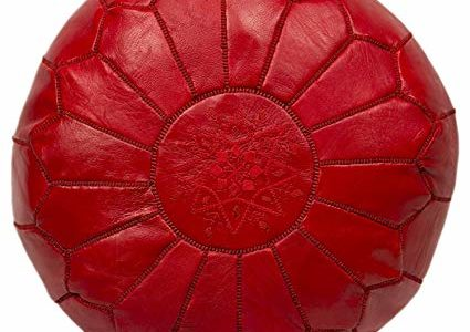 Moroccan Poufs Leather Luxury Ottomans Footstools Red Unstuffed Review