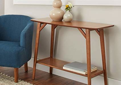 BHG Reed Mid Century Modern Console Table, Pecan Review