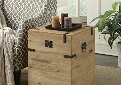 Convenience Concepts Laredo Trunk End Table, Natural Review